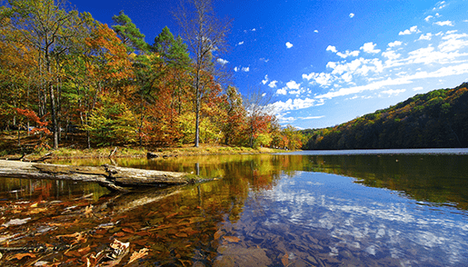 Indiana lake in the fall